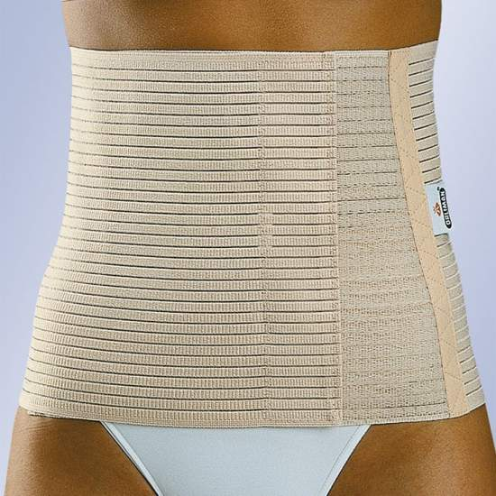 ABDOMINAL elastic band 24 cms - Multiband belt made from breathable stretch fabric.