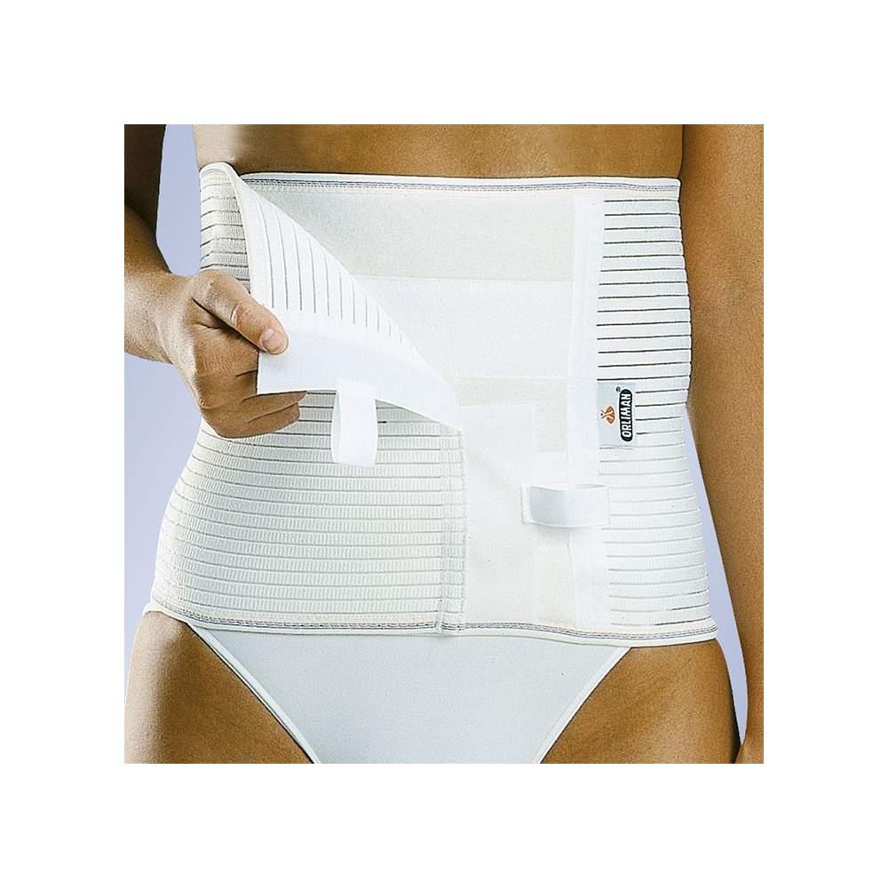 Banda abdominal (ancho 24 cms.) - Faja confeccionada con tejido elástico multibanda transpirable. Zona abdominal almohadillada.