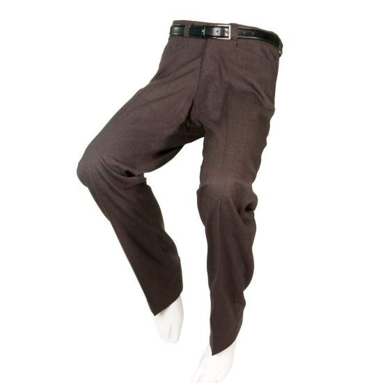 ADAPTED DRESS PANTS BROWN Men - Autumn Winter - Brown slacks adapted for people in wheelchairs.