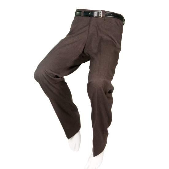 PANTALÓN ADAPTADO VESTIR MARRON Hombre – Otoño Invierno - Pantalón de vestir marrón adaptado para personas en silla de ruedas.