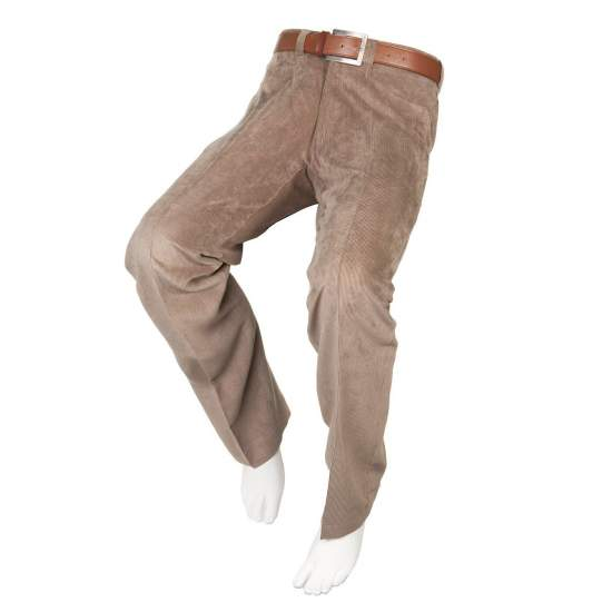 ADAPTED FROM LIGHT PANTS BROWN PANA Man - Fall Winter - Brown corduroy pants adapted for people in wheelchairs