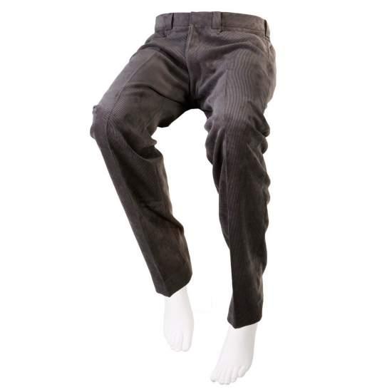 ADAPTADO PANA CALÇAS cinzas Man - Inverno queda - Ash calças de veludo cinza adaptados para pessoas em cadeiras de rodas