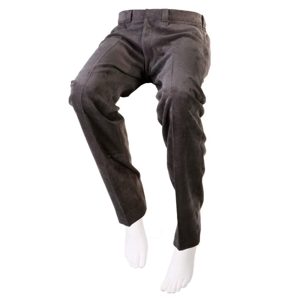 PANTALÓN ADAPTADO PANA  GRIS CENIZA Hombre – Otoño Invierno - Pantalón de pana gris ceniza adaptado para personas en silla de ruedas