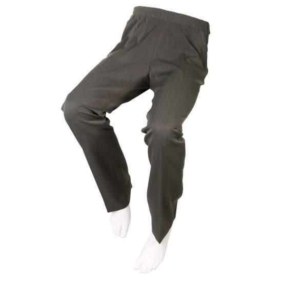 PANTALÓN ADAPTADO VESTIR GRIS MARENGO Mujer – Otoño Invierno - Pantalón color gris con cremalleras laterales para usuarios en silla de ruedas