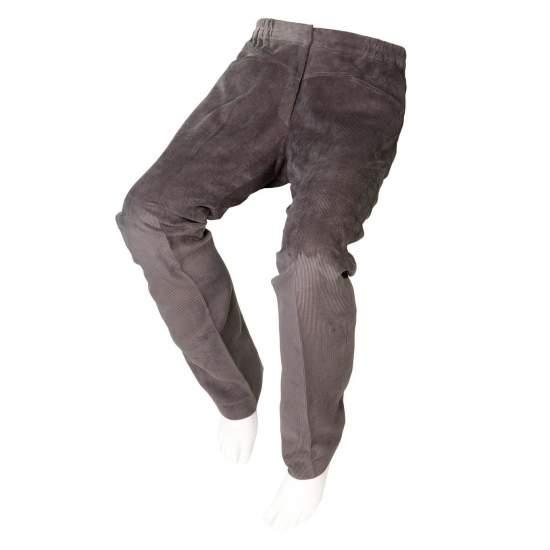 ADAPTADOS PANA Calças cinzentas Mulheres - Outono Inverno - Calças de veludo cinza adaptados para pessoas em cadeiras de rodas