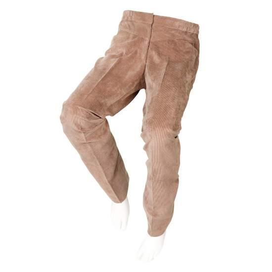 ADAPTADOS PANA TAN Calças femininas - Outono Inverno - Calças de veludo marrom em adaptado para cadeirantes