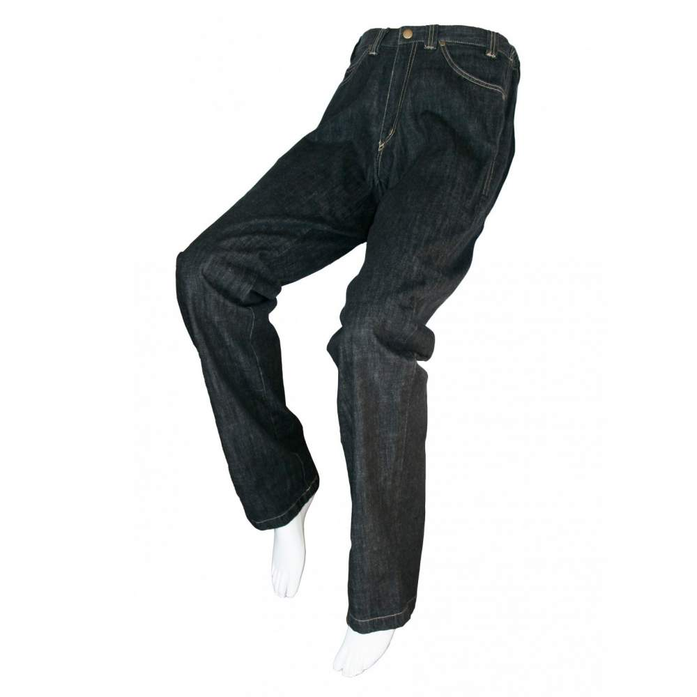 ADAPTED BLACK JEANS Unisex - Spring, Summer, Fall, Winter - Color black jeans adapted for people in wheelchairs