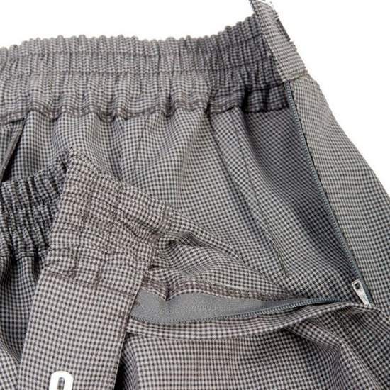 ADAPTED FROM SUMMER DRESS PANTS Women - Spring Summer - Checkered pants adapted for wheelchair women
