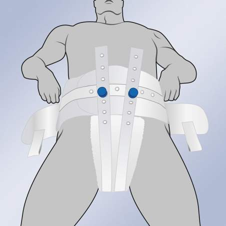 HARNESS PERINEAL A BELT C / MAGNETS