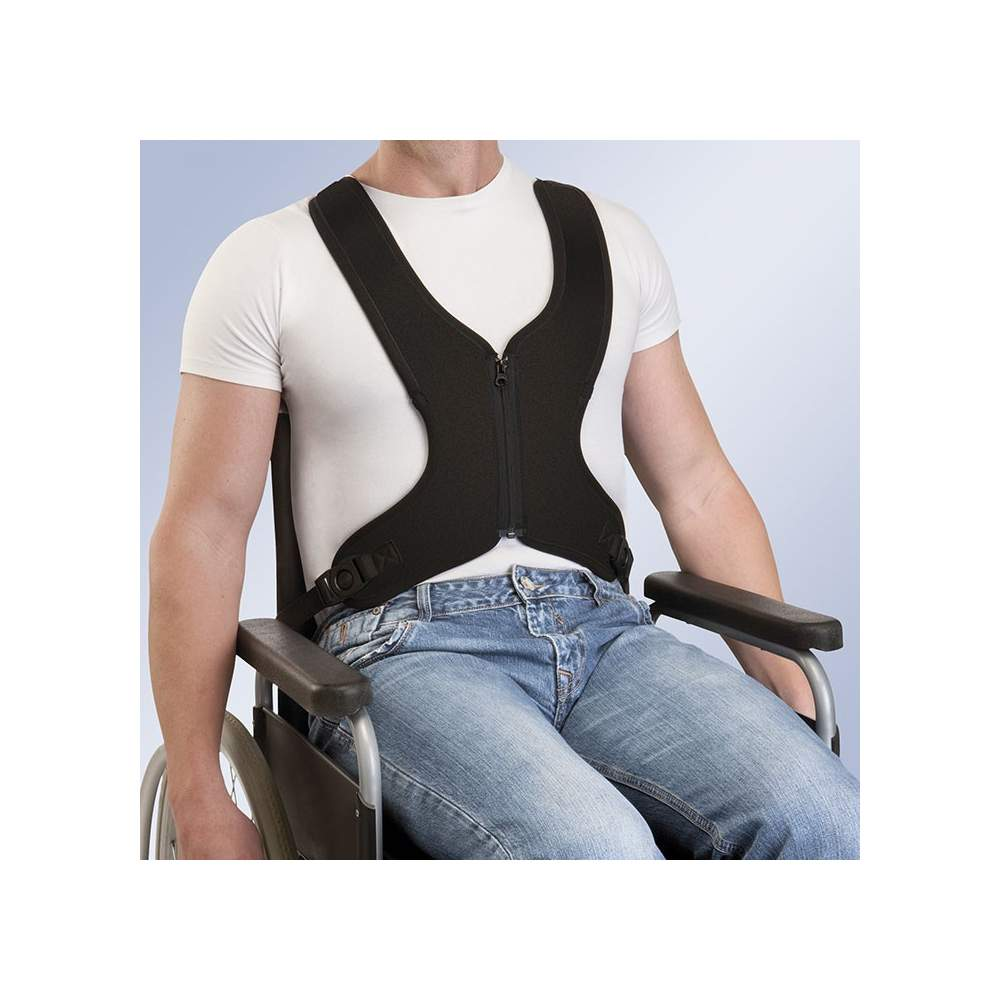 HARNESS VEST WITH ZIP-ARNETEC TECHNICAL FIX - Padding made of neoprene, has at its ends fastening straps adjustment system of its length, said straps have at one end with a pin hole for fastening by screw chairs.