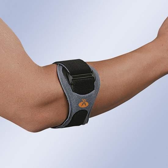Epicondilite pulseira FIX Epitec - Feito externamente com materiais de alta resistência acolchoadas e internamente com uma alma moldada e termoplástico em forma e pontos de silicone