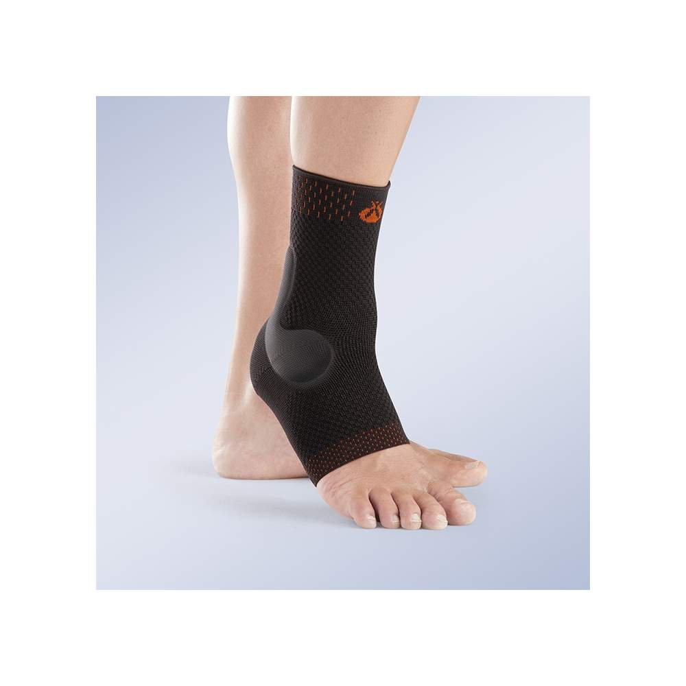 ELASTIC ANKLE viscoelastic pads TOBISIL - Made of stretch fabric breathable knit by knitting plane, it includes two viscoelastic pads anatomically shaped compression redistribute
