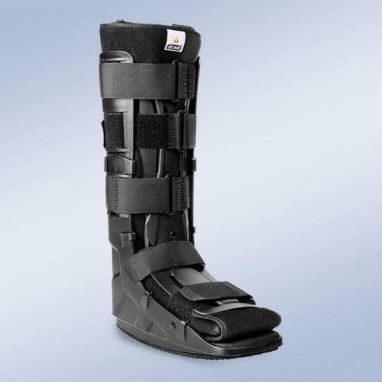 Walker fisso - Il design leggero e resistente, in un unico pezzo, con tallone chiuso e cinghie per assicurare una compressione circonferenziale. Pad Surround materiale traspirante Leg
