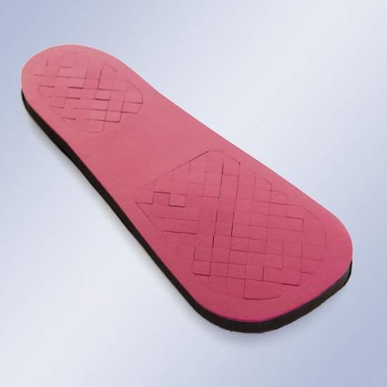 Modèle spécial pour diabétiques pieds / ulcères - Composée d'une feuille adhésive en velours de base fourni avec un micro crochet sur lequel une équipe de cellules carré uréthane bâtons de matériels