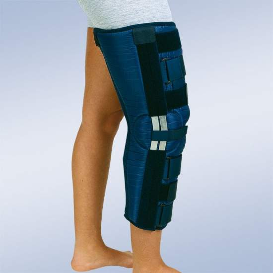Orthotic knee immobilizer (60 cms.) 20 ° flexion - Knee immobilizer made of nylon that repels external moisture and easy to clean, with internal cotton terry ...