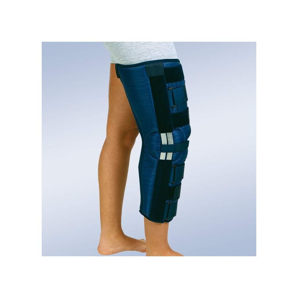 Ortesis inmovilizadora de rodilla ( 60 cms.) 20º flexión - Inmovilizador de rodilla fabricado con nylon externo que repele la humedad y facilita su limpieza, con rizo de algodón interno...