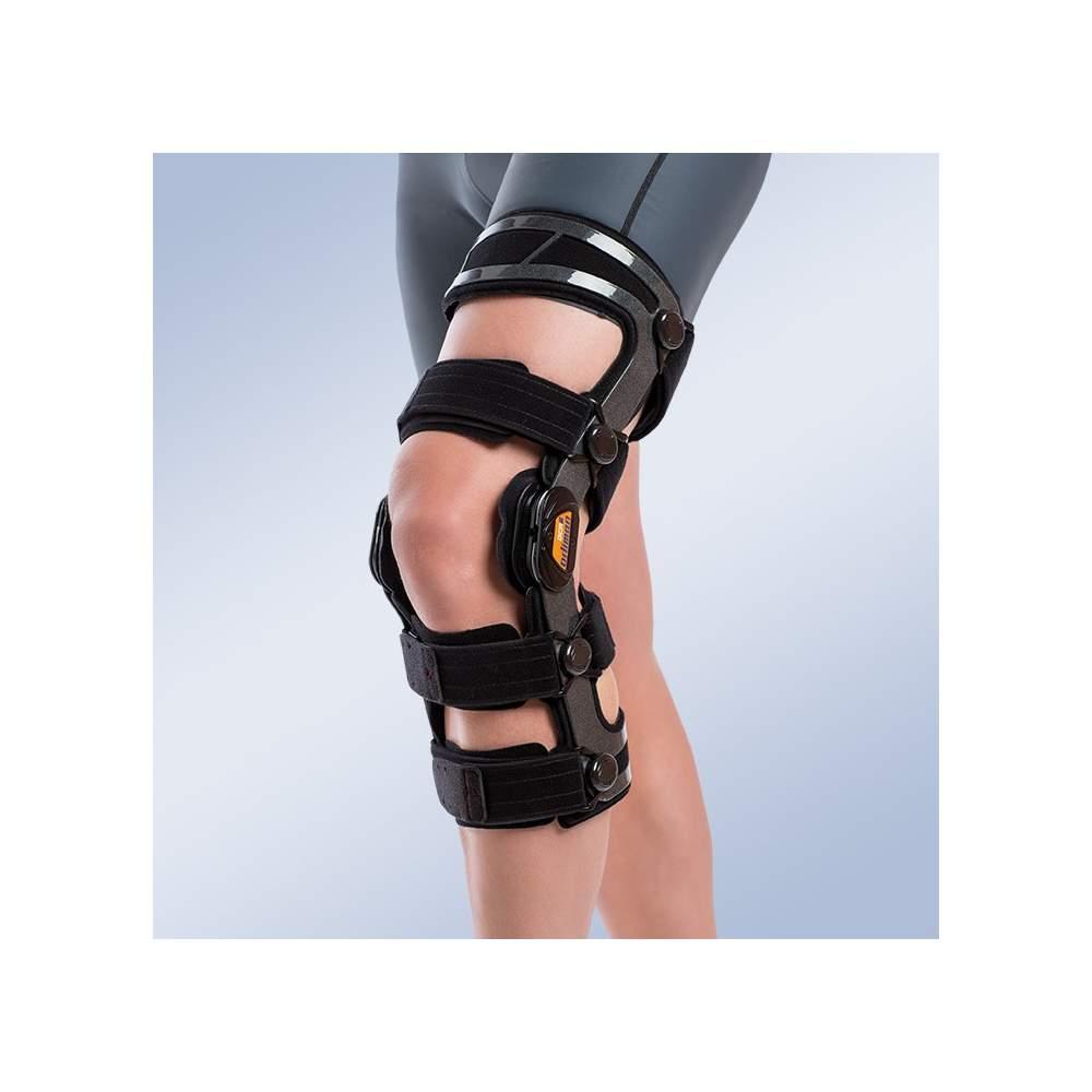 Genou orthèse fonctionnelle contrôle flexion et d'extension avec droit