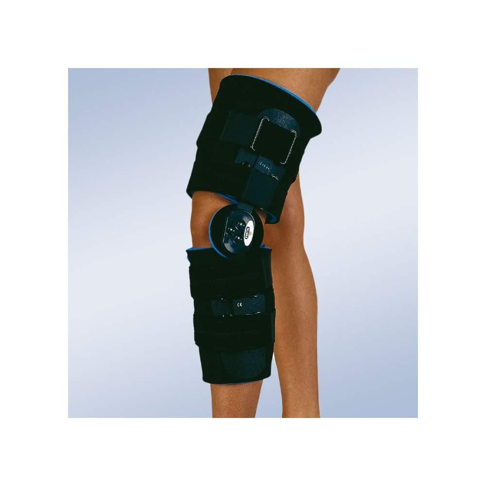 Brace flexão do joelho pós-cirúrgico e extensão curta