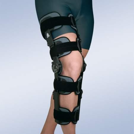 Adjustable knee brace blocking (4 narrow bands, 4 straps)