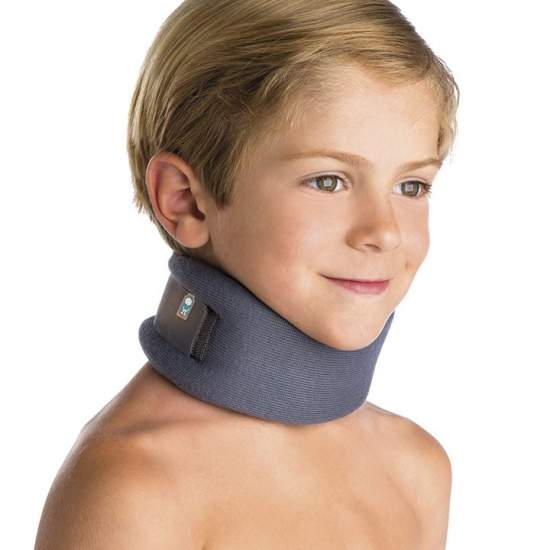 Pediatric Cervical collar - Made of polyurethane foam with a height of 6 cm, back velcro, breathable and anatomic design.
