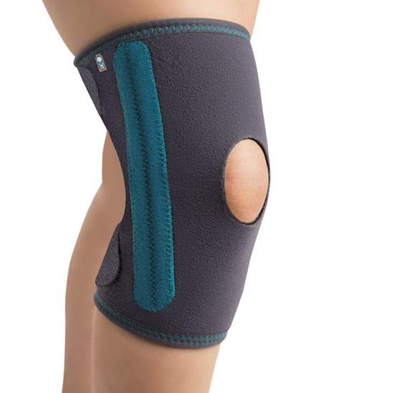 Pediatric Knee with Strapping - Pediatric knee on the inside made with breathable honeycomb and outer shell.