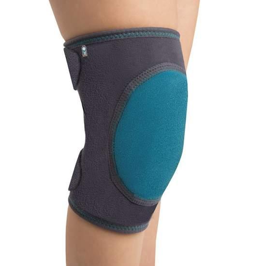 Rodillera Acolchada - Rodillera infantil fabricada en su parte interior con panal transpirable y en la exterior con velour (ambos elásticos), posee una almohadilla anterior que protege la rodilla