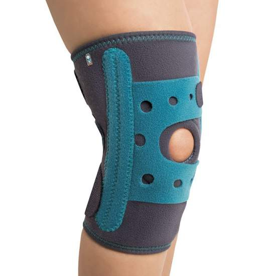 Pediatric Knee Palumbo - Pediatric knee on the inside made with breathable honeycomb and outside with felt (both elastic)