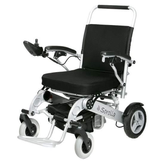 Sedia pieghevole elettrica Sorolla - Sorolla sedia elettrica in alluminio superleggero, batteria al litio e pieghevole per un facile trasporto e l'introduzione di veicoli.