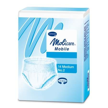 MOBILE Molicare ABSORÇÃO TAMANHO MÉDIO 2 a 1.100 ml.