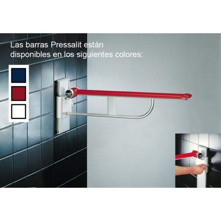 BAR FOLDING Pressalit 60 cm. ADJUSTABLE WHITE TOUR 25 cm.
