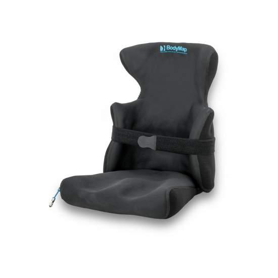Asiento y respaldo Body Map AC - Bodymap AC es el conjunto de asiento y respaldo con soportes laterales y reposacabezas incorporado.