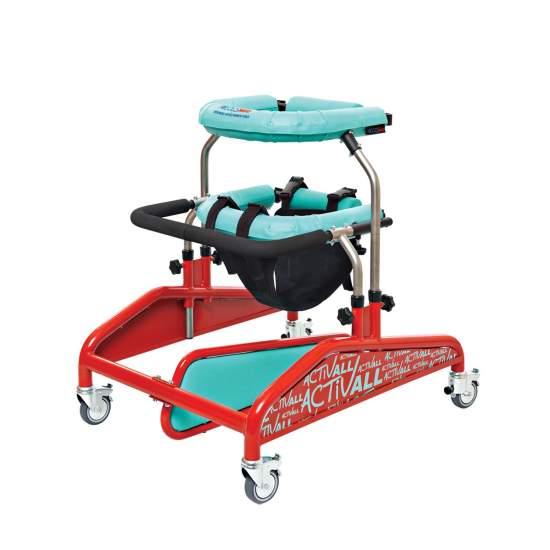 Andador dinámico Activall y Activall Cross - Activall es un moderno dispositivo de rehabilitación para ser utilizado en terapia intensiva de pacientes con dificultades de movilidad tanto en extremidades inferiores como superiores.