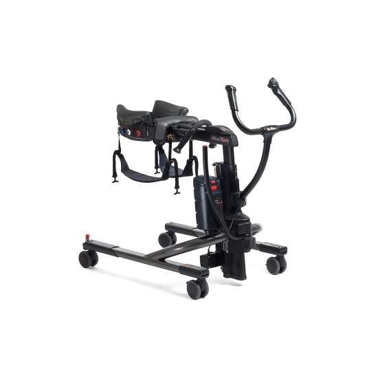 dispositif de mobilité de Tram - Tram est un dispositif de mobilité qui combine le transfert de assis ou debout (ascenseur), assisté debout et marcher pour tous les patients. Intuitive pour les aidants naturels et parfait pour un environnement de travail sûr.