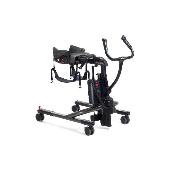 Dispositivo de mobilidade Tram - Tram é um dispositivo de mobilidade que combina a transferência de sentado ou em pé (elevador), em pé e andar assistido para todos os pacientes. Intuitivo para os cuidadores e perfeito para um ambiente de trabalho seguro.
