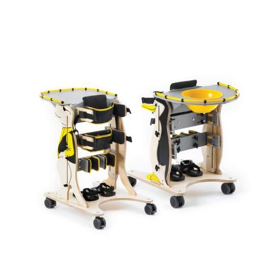 Bipedestador infantil Rex y Penguin - Estar de pie es la mejor manera para que los niños con afectaciones moderadas puedan aumentar su fuerza muscular.