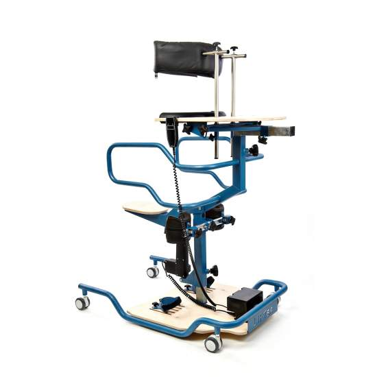 Stander Lifter - Lifter is a modern rehabilitation device. It has an integrated electrical system which allows the patient to control the device using the remote control. The seat plays the role of pelvic support and gives security to the patient.