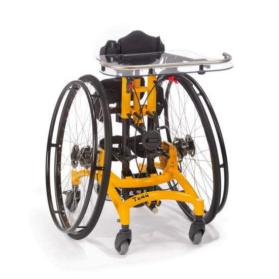 Bipedestador Móvil Todd - Los soportes del cuerpo pueden ser ajustados en altura, anchura y profundidad, permitiendo una adaptación al crecimiento del niño.