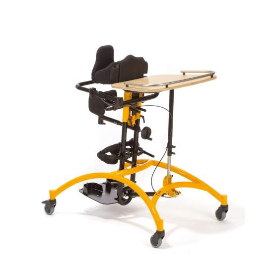 Tim adjustable stander - Tim body supports can be adjusted in height, width and depth, this allows an adaptation to growth of the trunk and limbs of the child.