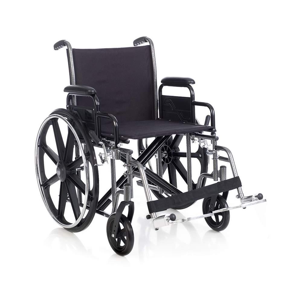 HERCULES sedia a rotelle bariatrica in acciaio di 135 Kg.