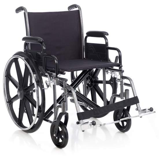 Sedia a rotelle in acciaio bariatrica HERCULES 160 Kg. - Sedia d'acciaio bariatrica a 160 kg