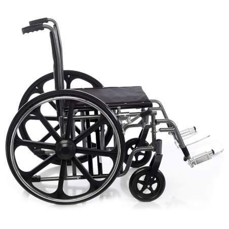 Sedia a rotelle in acciaio bariatrica HERCULES 160 Kg.
