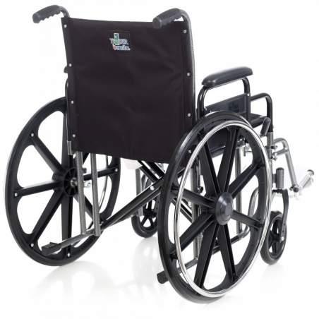 Sedia a rotelle in acciaio bariatrica 180kg.