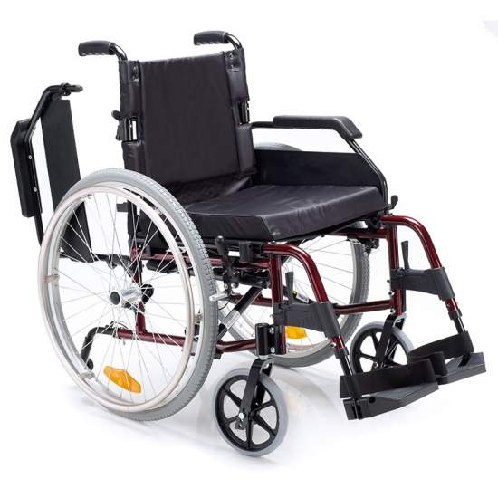 VENETTO Silla de ruedas de aluminio 600 ruedas macizas - VENETTO Silla de ruedas de aluminio 600 ruedas macizas