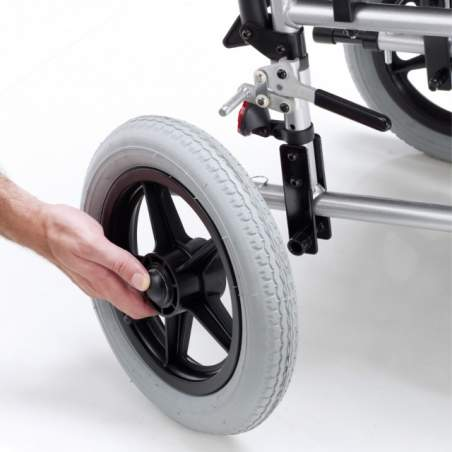 Venetto cadeira de rodas de alumínio rodas sólidas 315