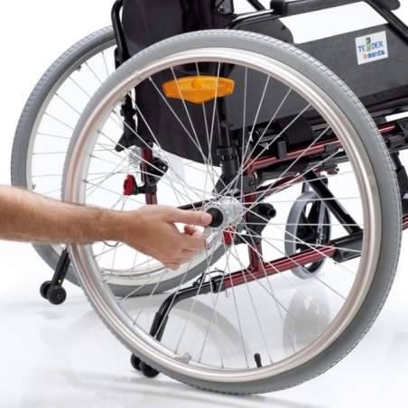 Wheelchair VENETTO 315 aluminum solid wheels