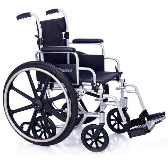 Transit aluminium en fauteuil roulant OXFORD 6 roues - Transit aluminium en fauteuil roulant OXFORD 6 roues