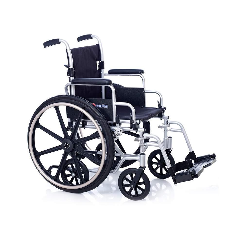 Silla de ruedas de aluminio tr nsito oxford 6 ruedas for Silla de ruedas