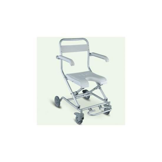 VICTORIA ROLO DE DOBRADURA - A cadeira de banho VICTORIA novo rolo 1512BN é uma cadeira dobrável leve e
