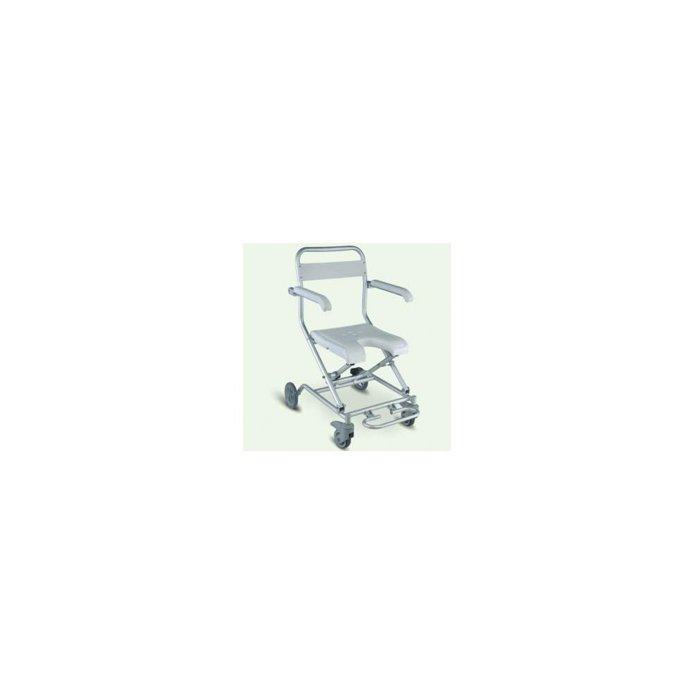 VICTORIA ROLLER FOLDING - The bath chair VICTORIA NEW ROLLER 1512BN is a lightweight folding chair and