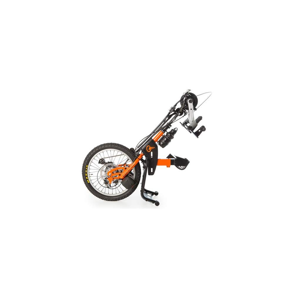 Handbike BATEC manual Tetra - El handbike BATEC MANUAL TETRA es nuestro handbike acoplable a silla de ruedas de propulsión manual pensado para todos aquellos con lesiones que afecten tanto a extremidades...